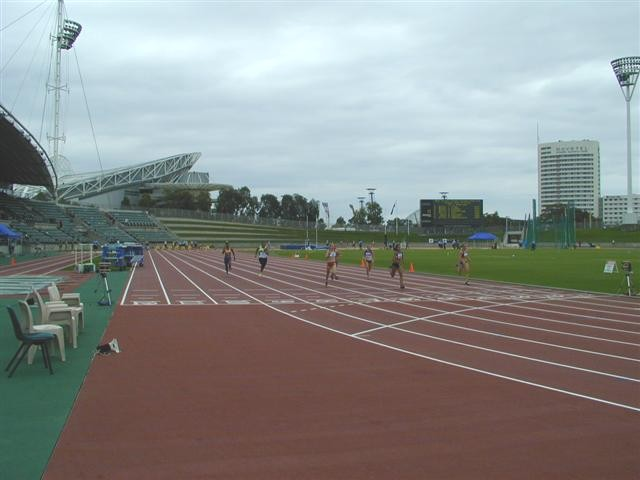 The End Of 100m Straight Viewed From Track